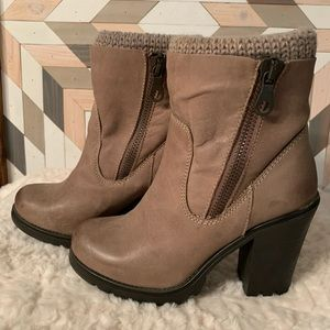 Steve Madden ankle boots with sweater insert